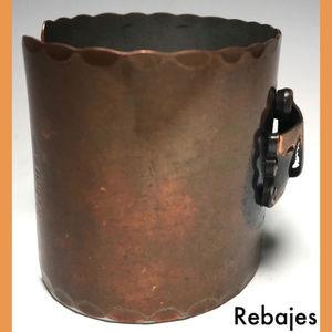 Rebajes Jewelry - Mid Century Rebajes Ethnic Mask Copper Bracelet